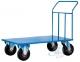4 ruote girevoli Pianale in lamiera - 1200x800 mm Ruote pneumati