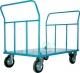PIANALE IN LAMIERA 20/10 DOPPIA SPONDA 2 ruote in gomma industri
