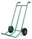 PORTABAGAGLI - PORTASACCHI pesante con pedana fissa 2 ruote pneu